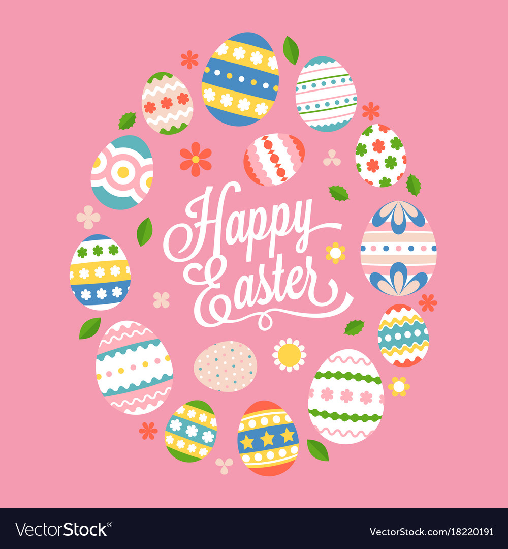 Happy easter calligraphic lettering hand font