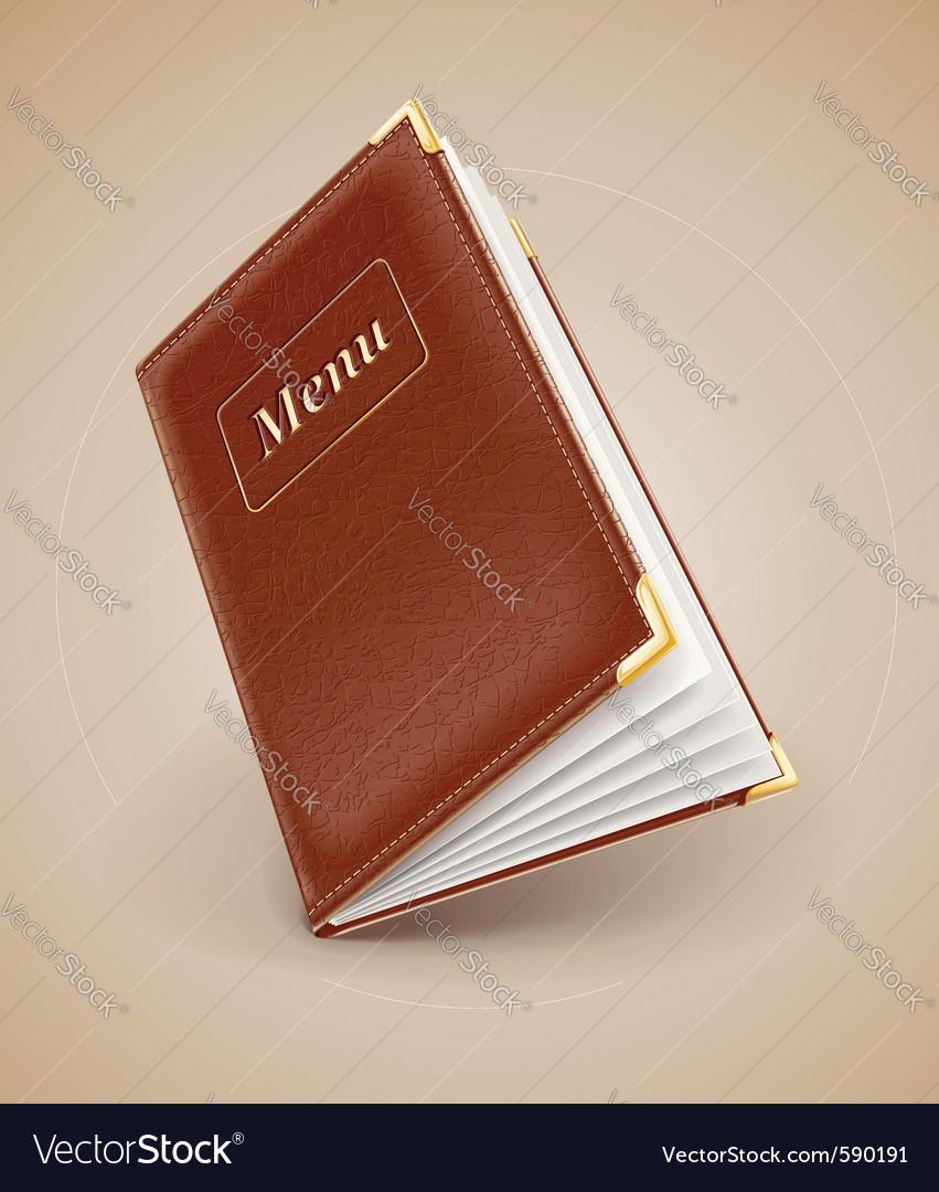 Opening menu book