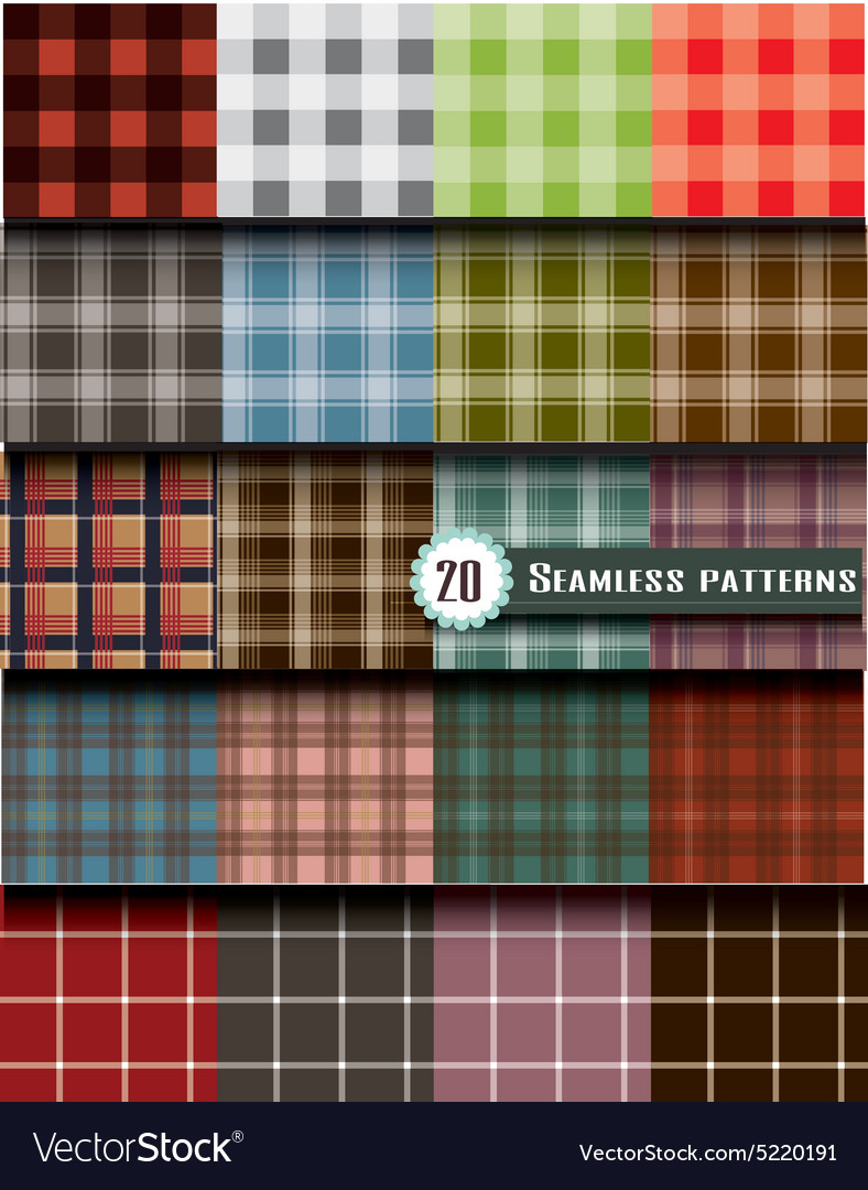 Plaid seamless pattern pattern swatches included