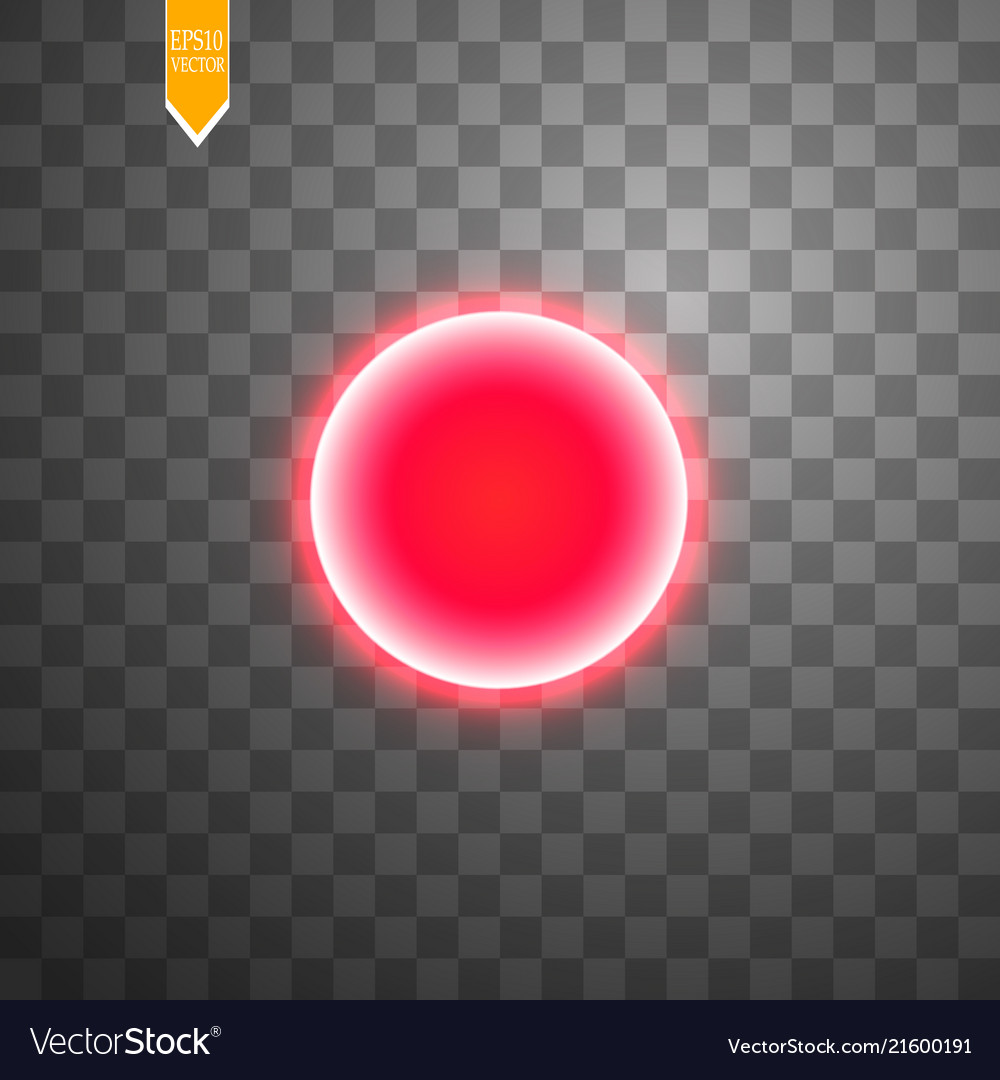 Red round frame shining circle banner isolated