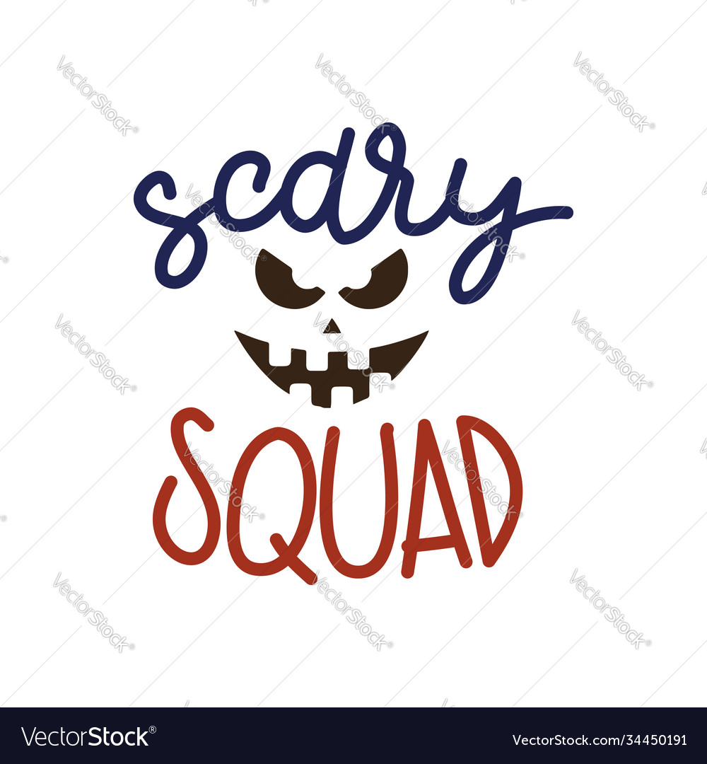 Scary squad halloween party poster with