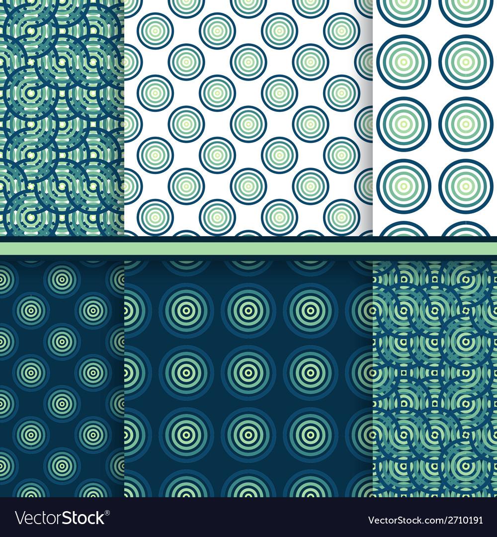 Set of circle seamless patterns