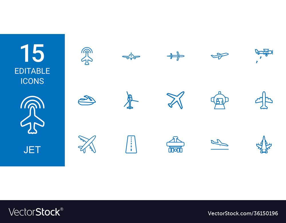 15 jet icons