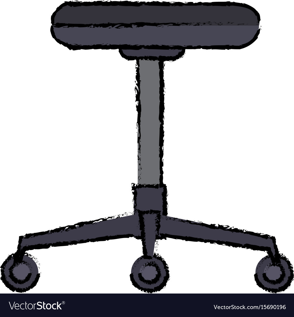 Backless Chair Office Furniture Wheel Vector Image