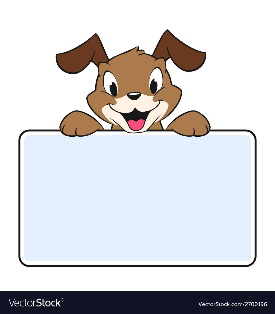 Cartoon Banner Dog