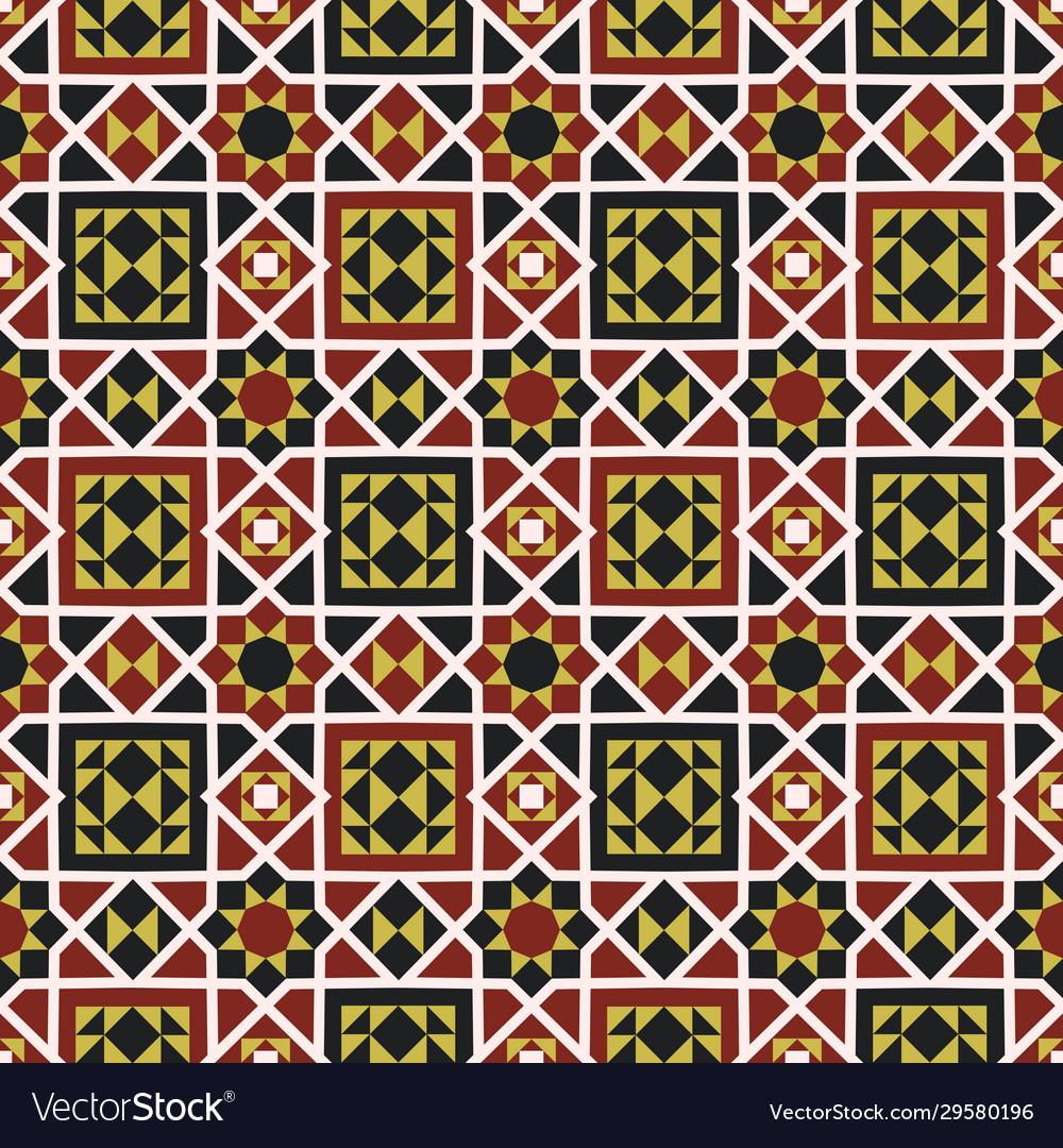 Endless pattern with geometric motif decor