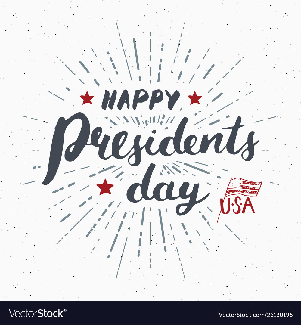 Happy presidents day vintage usa greeting card