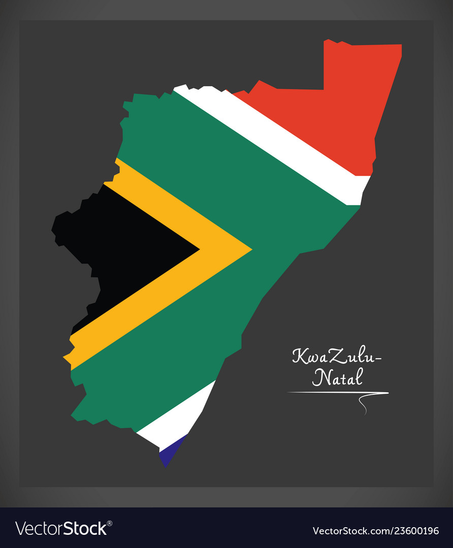 Natal South Africa Map.Kwazulu Natal South Africa Map With National Vector Image