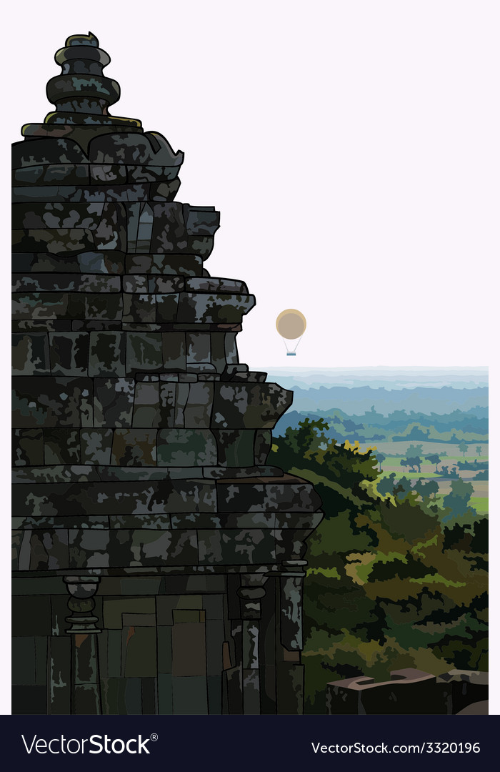 Landscape stone old buildings Ankor Wat Cambodia