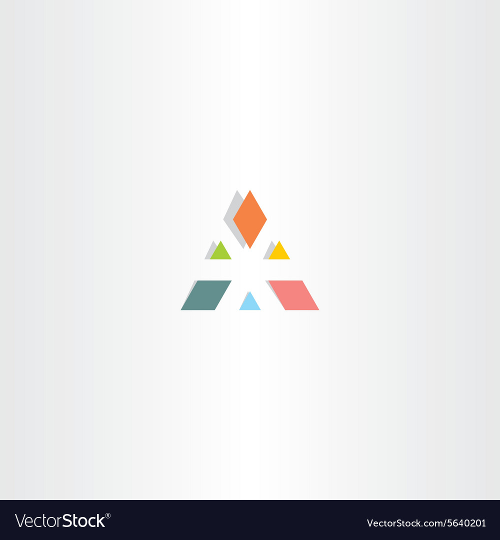 Abstract triangle business colorful logo