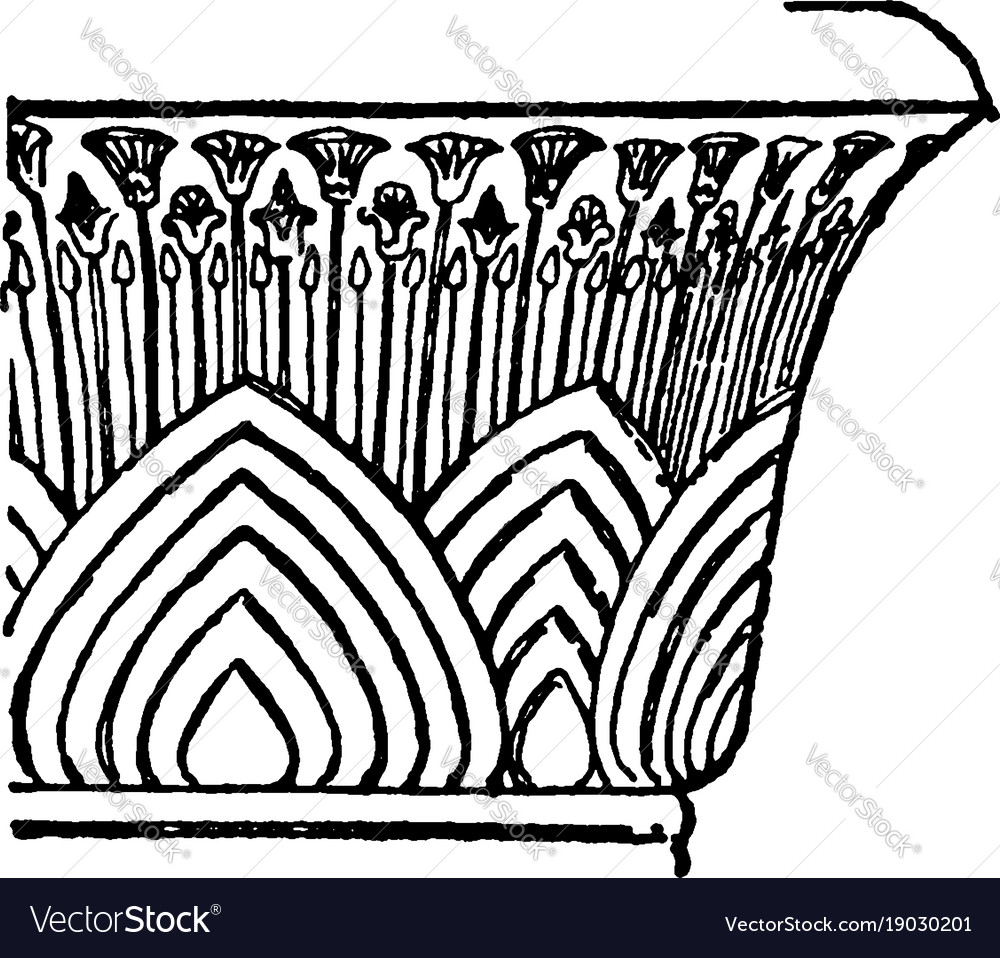 Bell capital with papyrus wide vector image