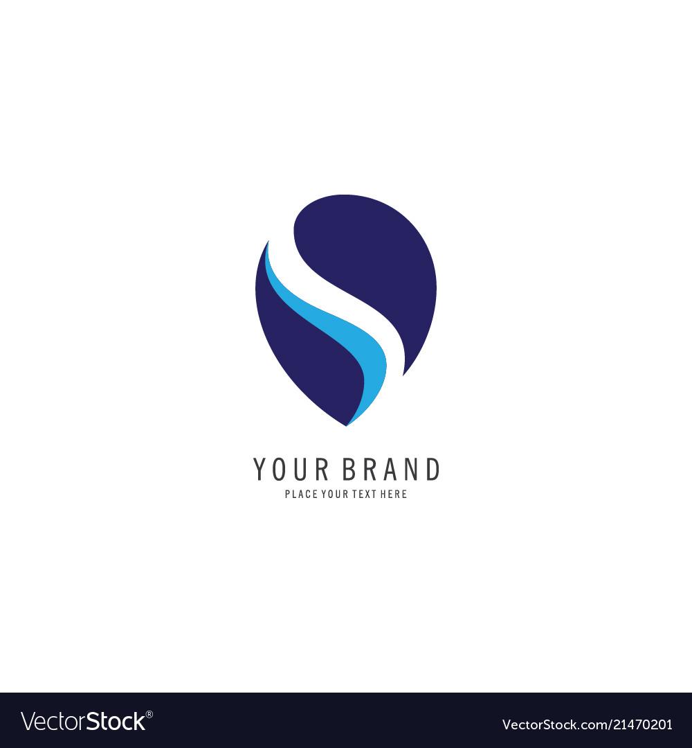 Letter s concept logo