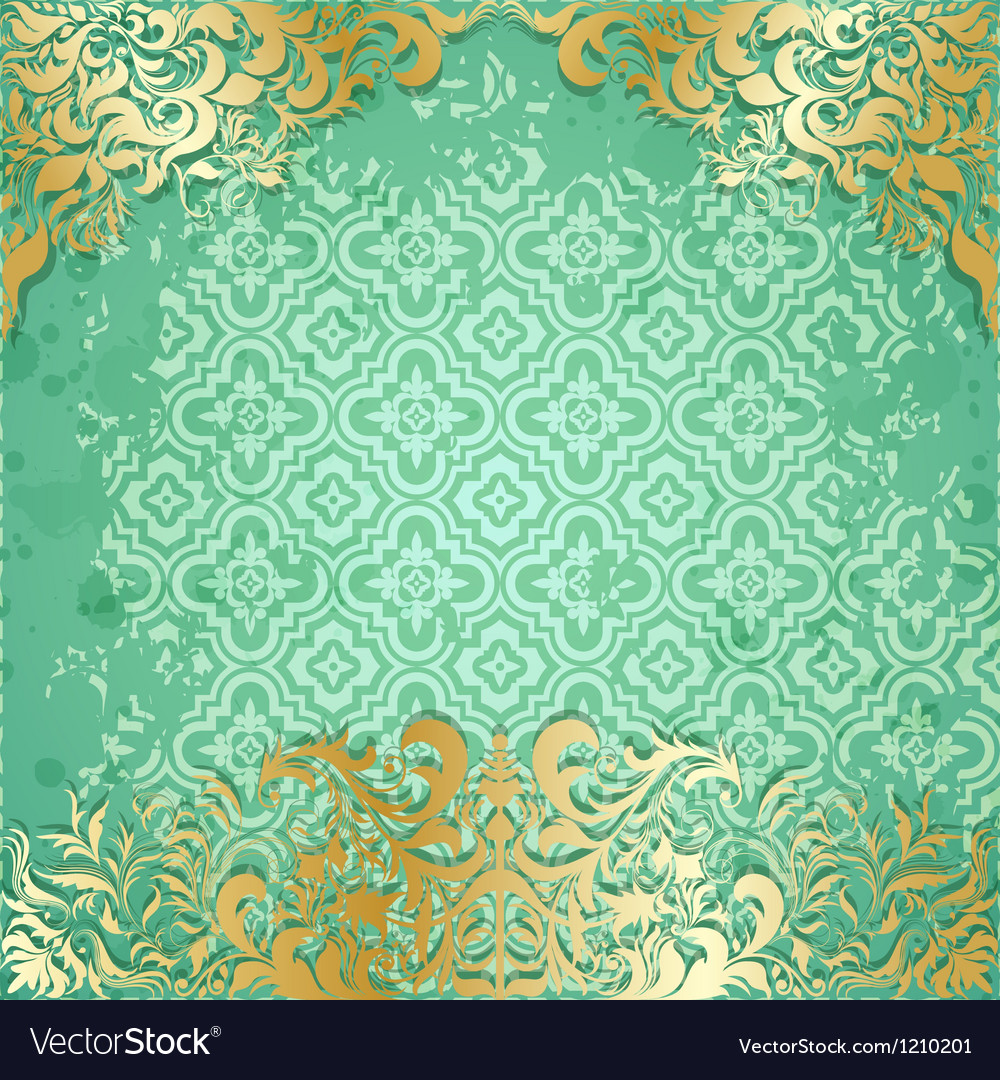 Luxury background with vintage frame and pattern