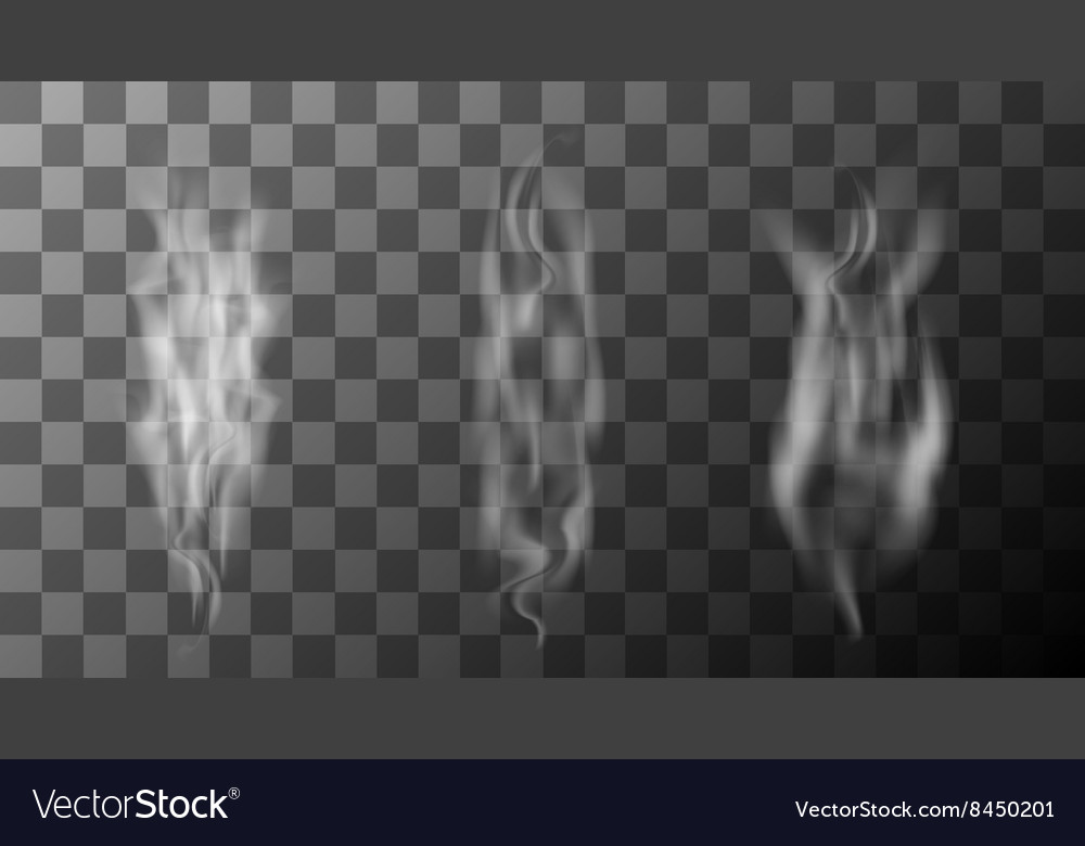 Modern smoke set on transparent background vector image