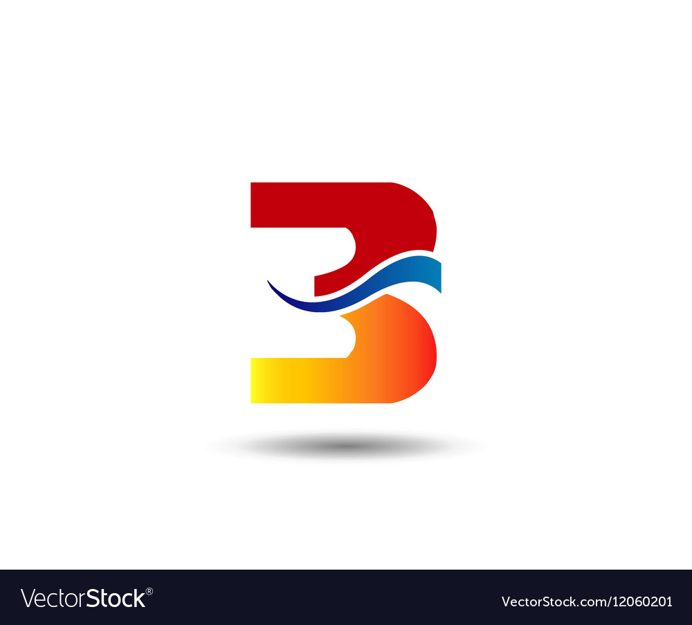 Number three 3 logo symbol design template element number three 3 logo symbol design template element vector image maxwellsz