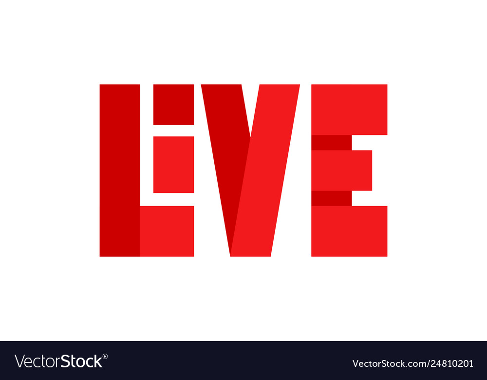 Red live streaming icon