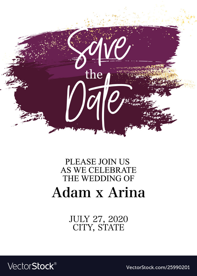Save date graphic abstract design colorful