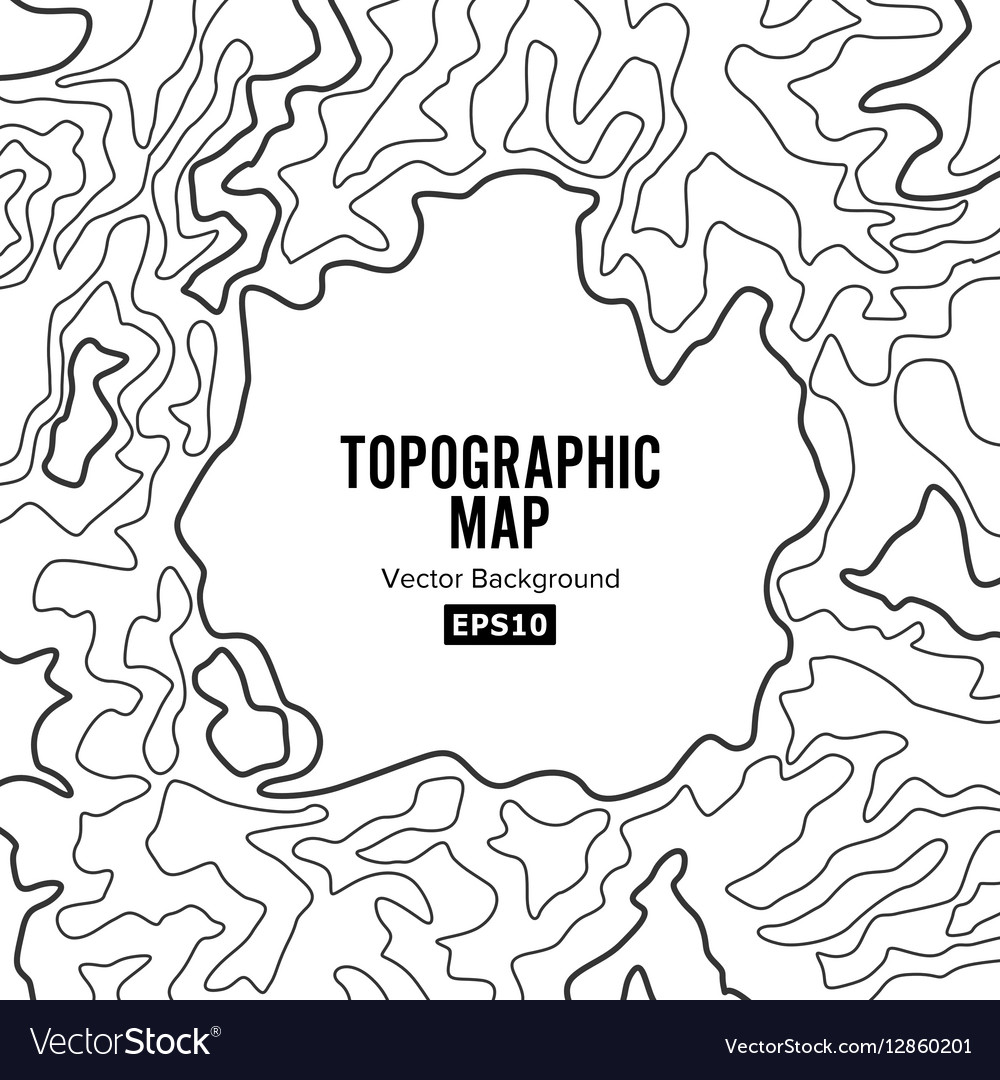 How Do You Find The Elevation On A Topographic Map.Topographic Map Background Concept Elevation Vector Image