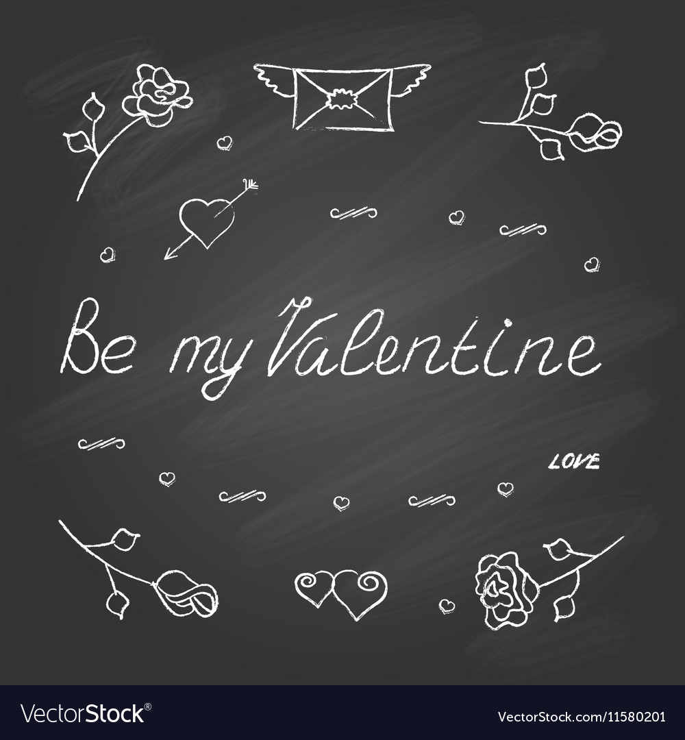 Ymbol set for Valentines Day vector image