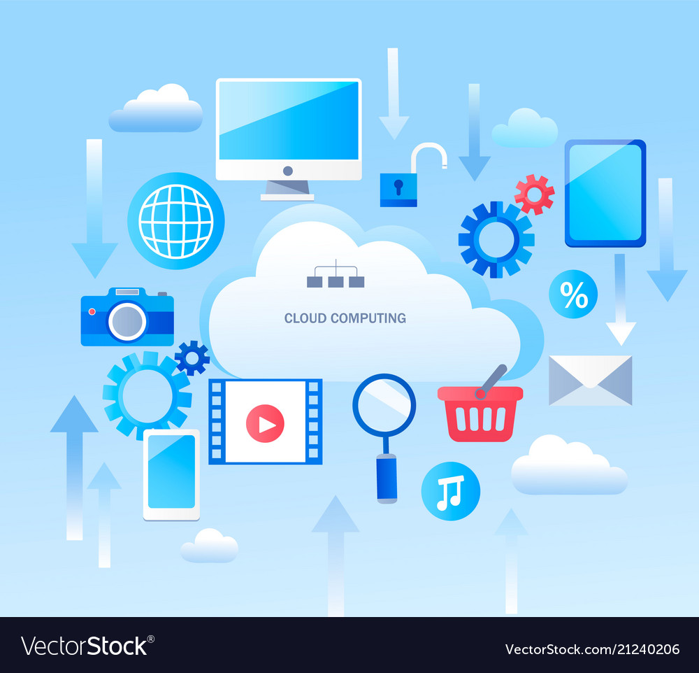 Abstract infographic for cloud computing services
