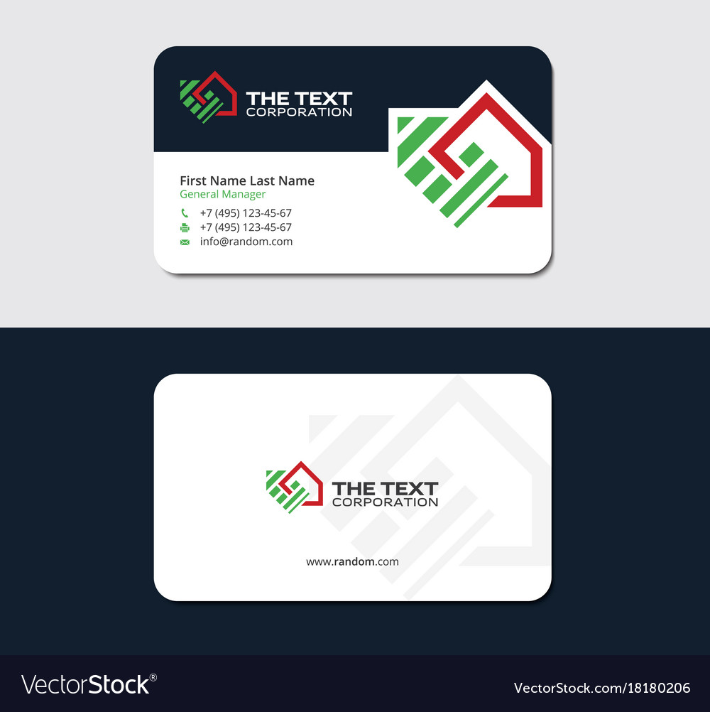 Business card for real estate appraiser Royalty Free Vector