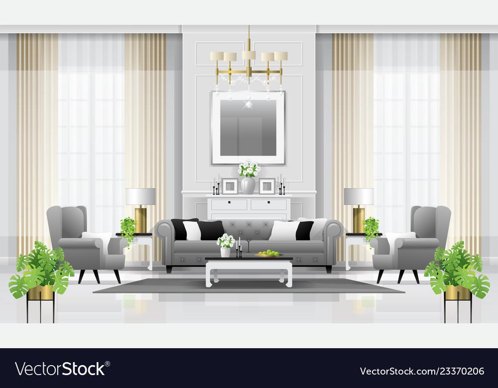Luxury Living Room Interior Background