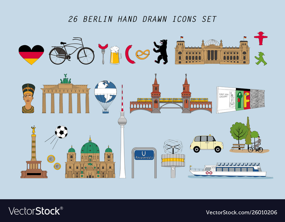 Set with various symbols berlin