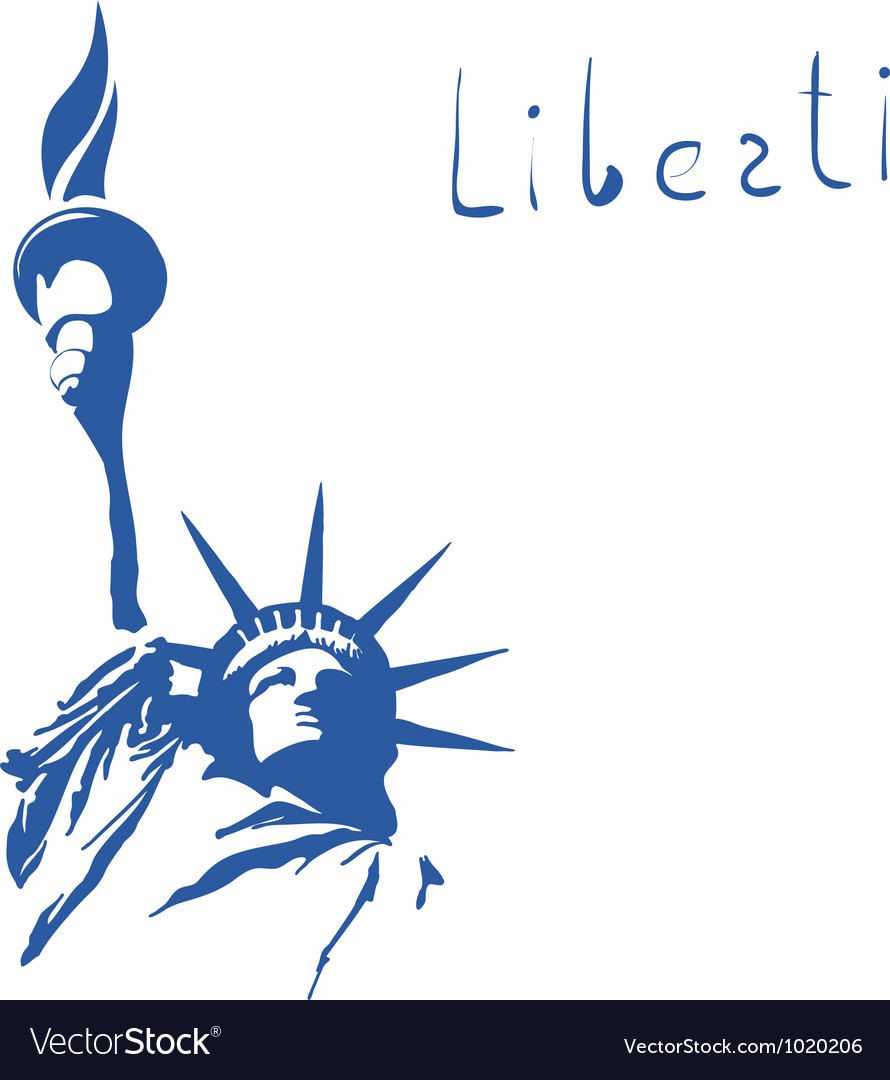 Statue of Liberty Sign vector image