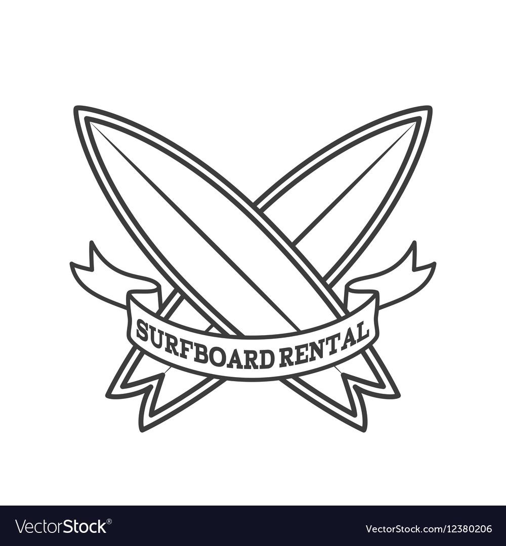 Surfboard rental logo design Surfing logotype
