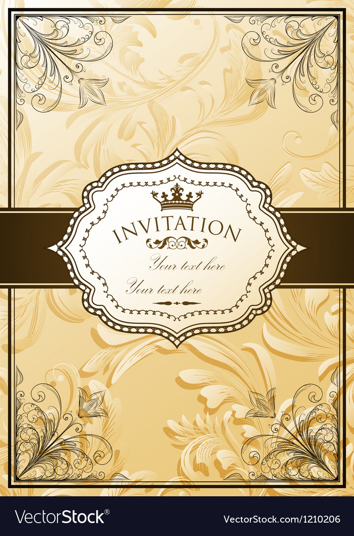 Vintage background with ornate frame Royalty Free Vector