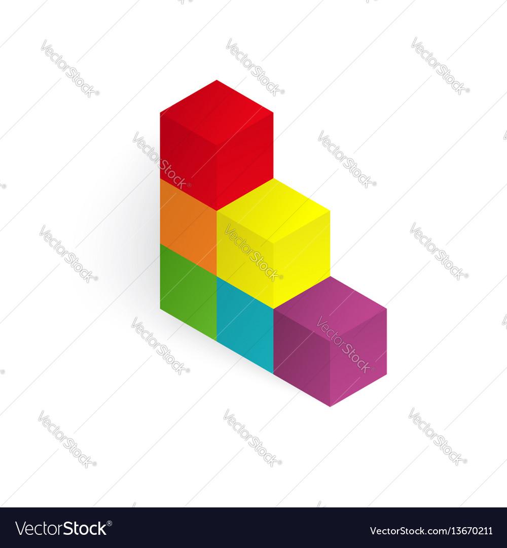 3d color cubes