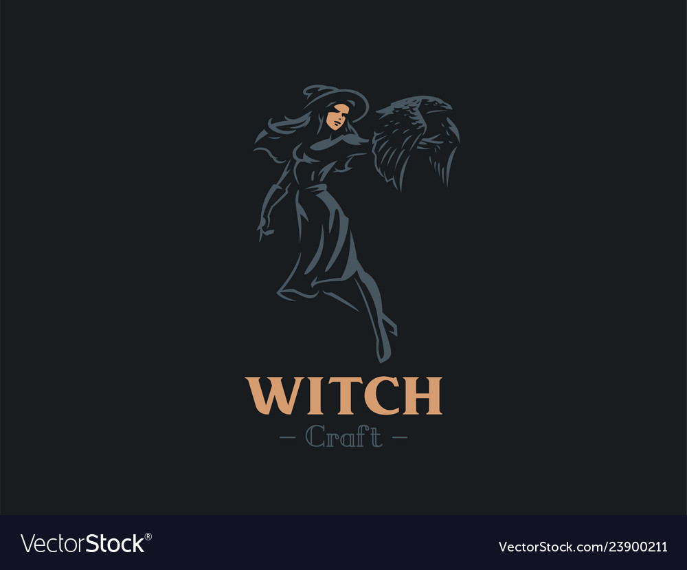 A witch holds a bat in her hand