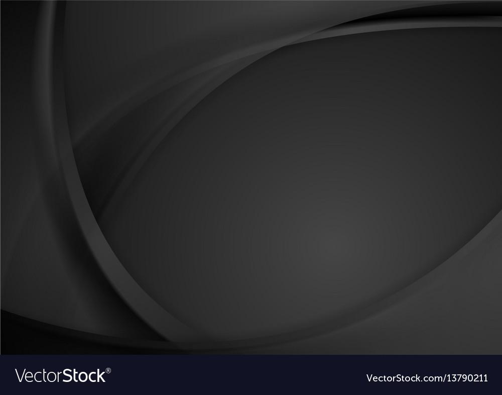 Abstract dark wavy corporate background vector image