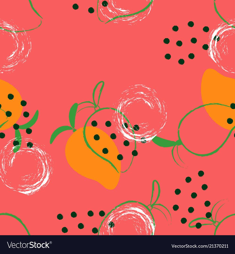 Abstract mango pattern