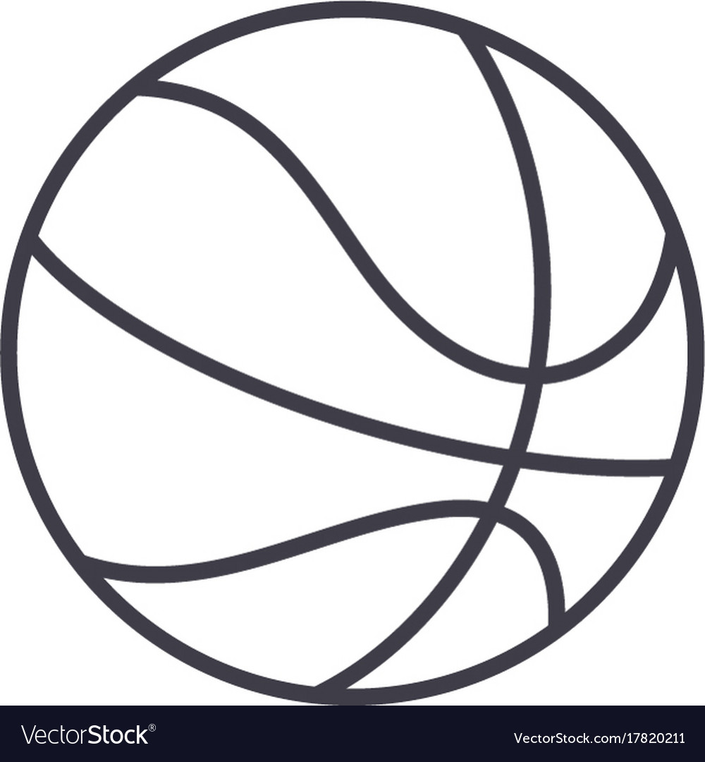 f09d32c937fe6 Basketball sign line icon sign