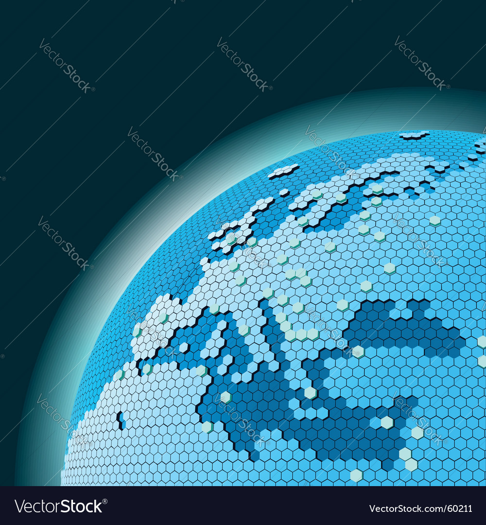 Cellular world vector image