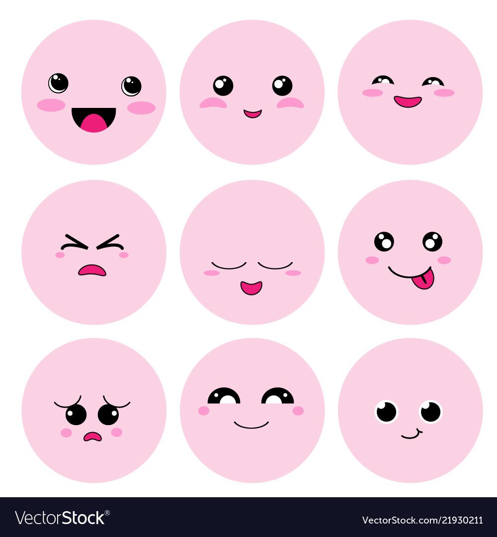 Cute cartoon face