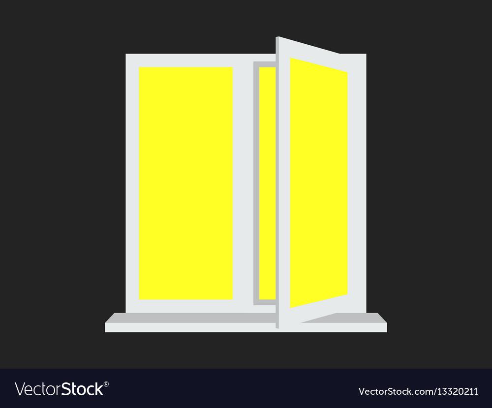 Light from the open window yellow light