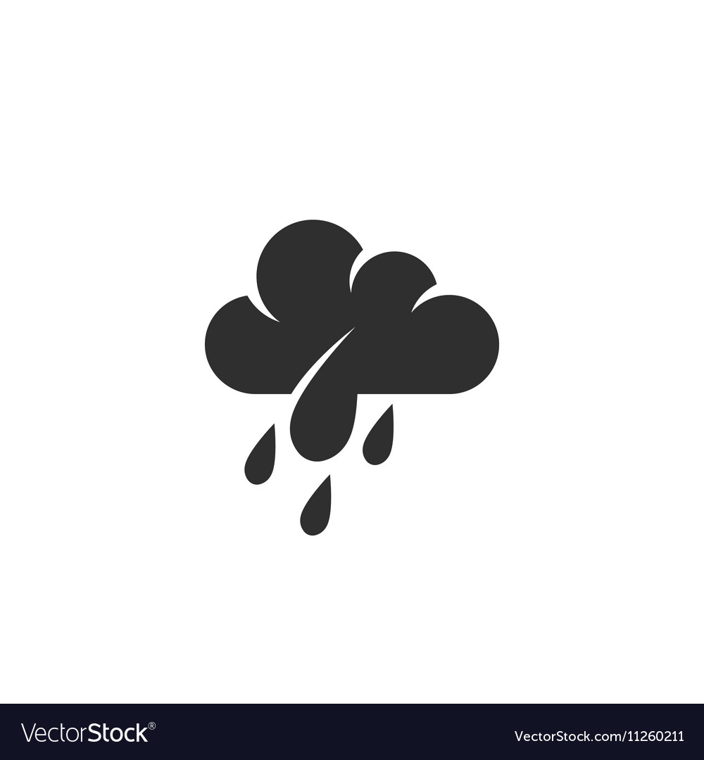 Rain Icon logo on white background vector image
