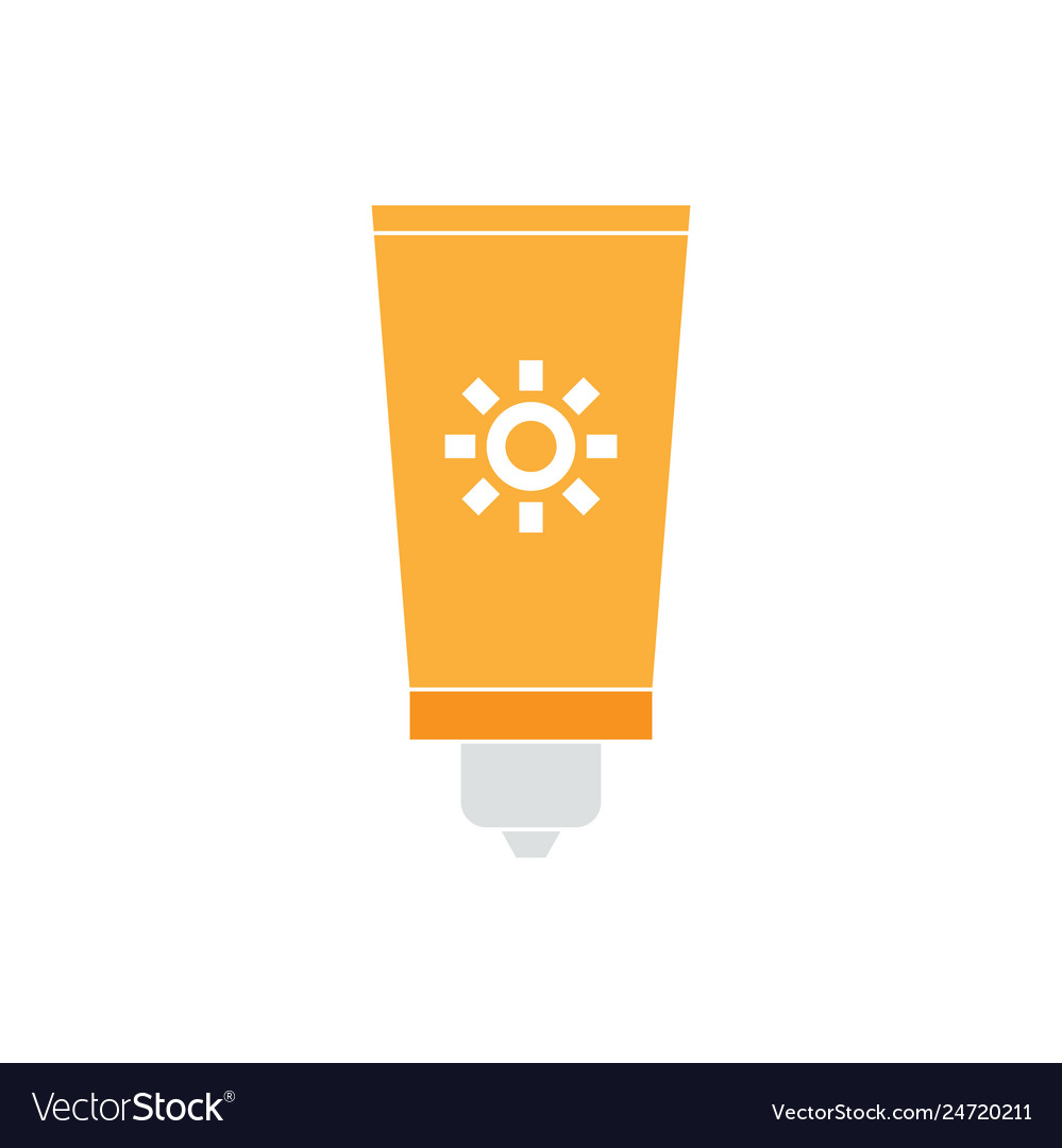 Sunblock graphic design template isolated