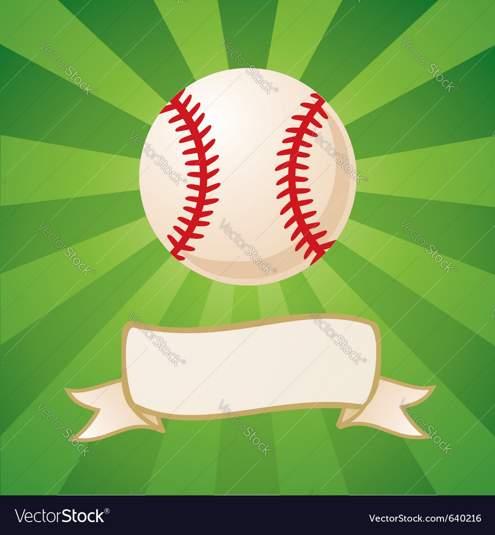 Baseball background vector image