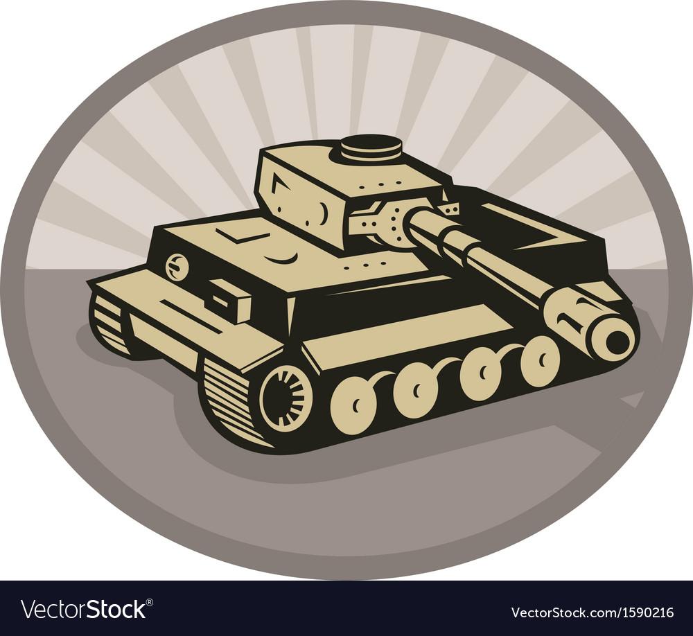 German panzer battle tank aiming cannon
