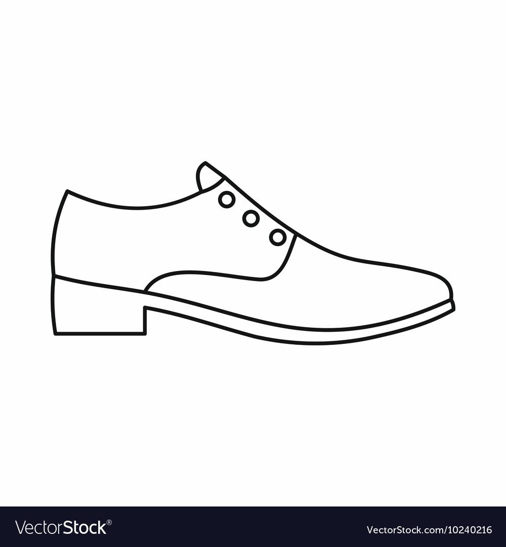 Men shoe icon outline style