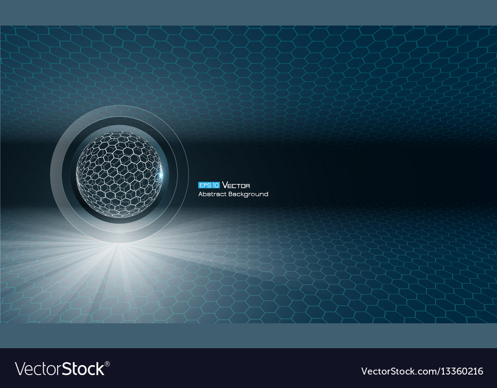 Sphere with glow vector image