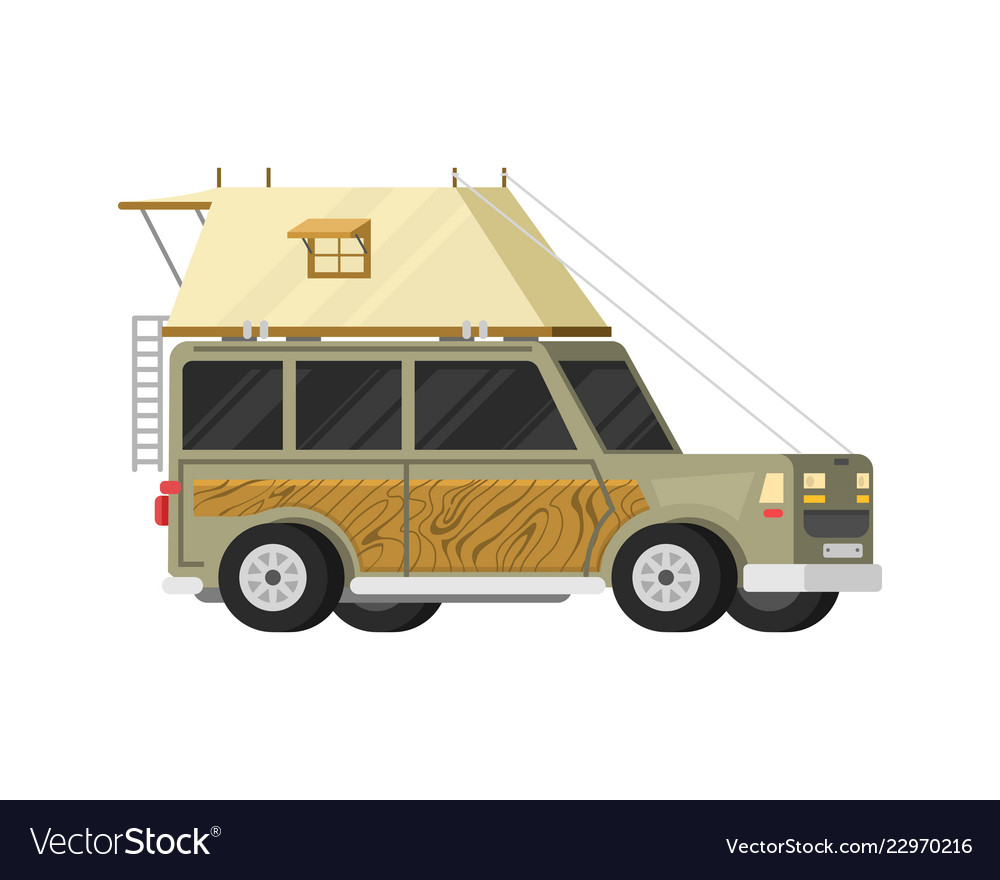Trailers or family rv camping caravan tourist bus