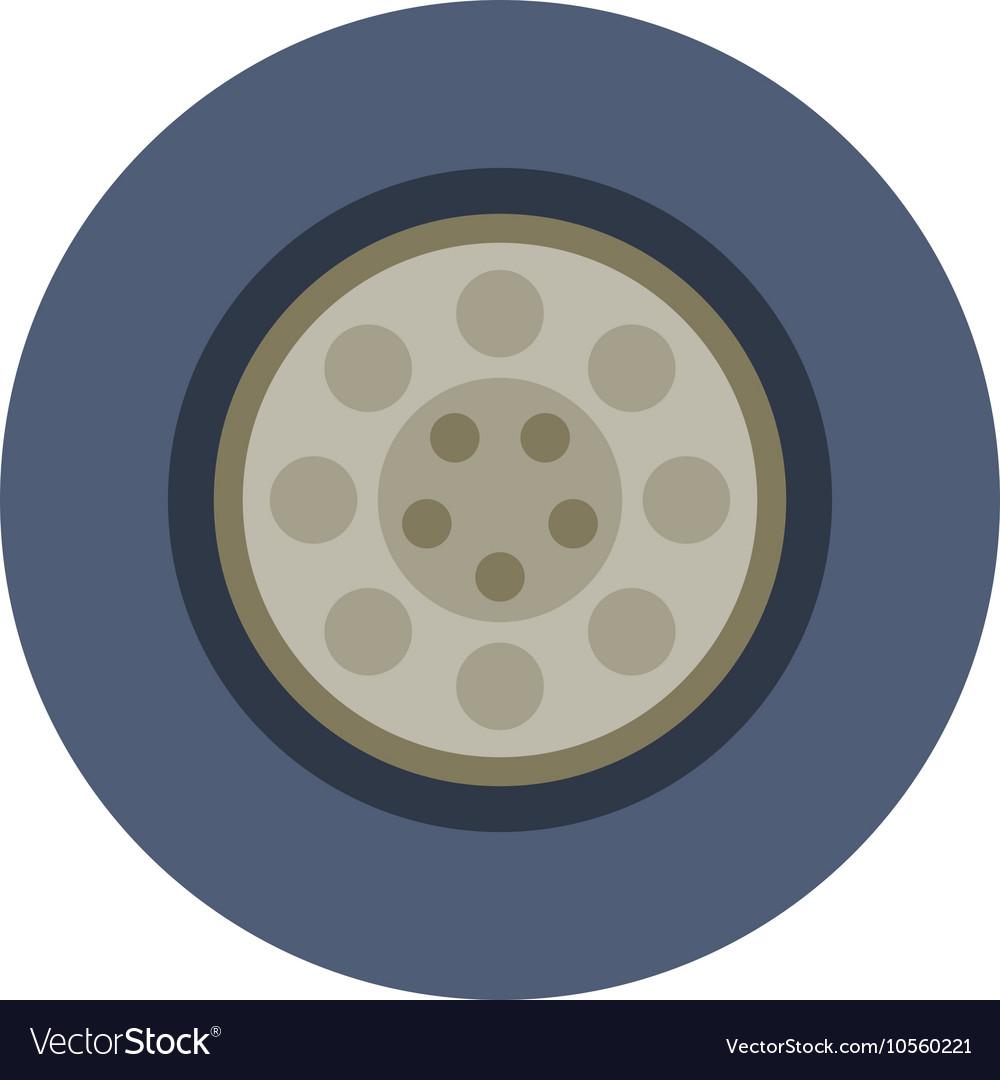 Car wheel cartoon flat