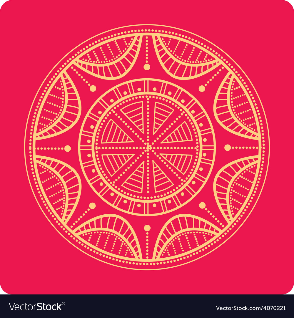 Celtic ornament on red