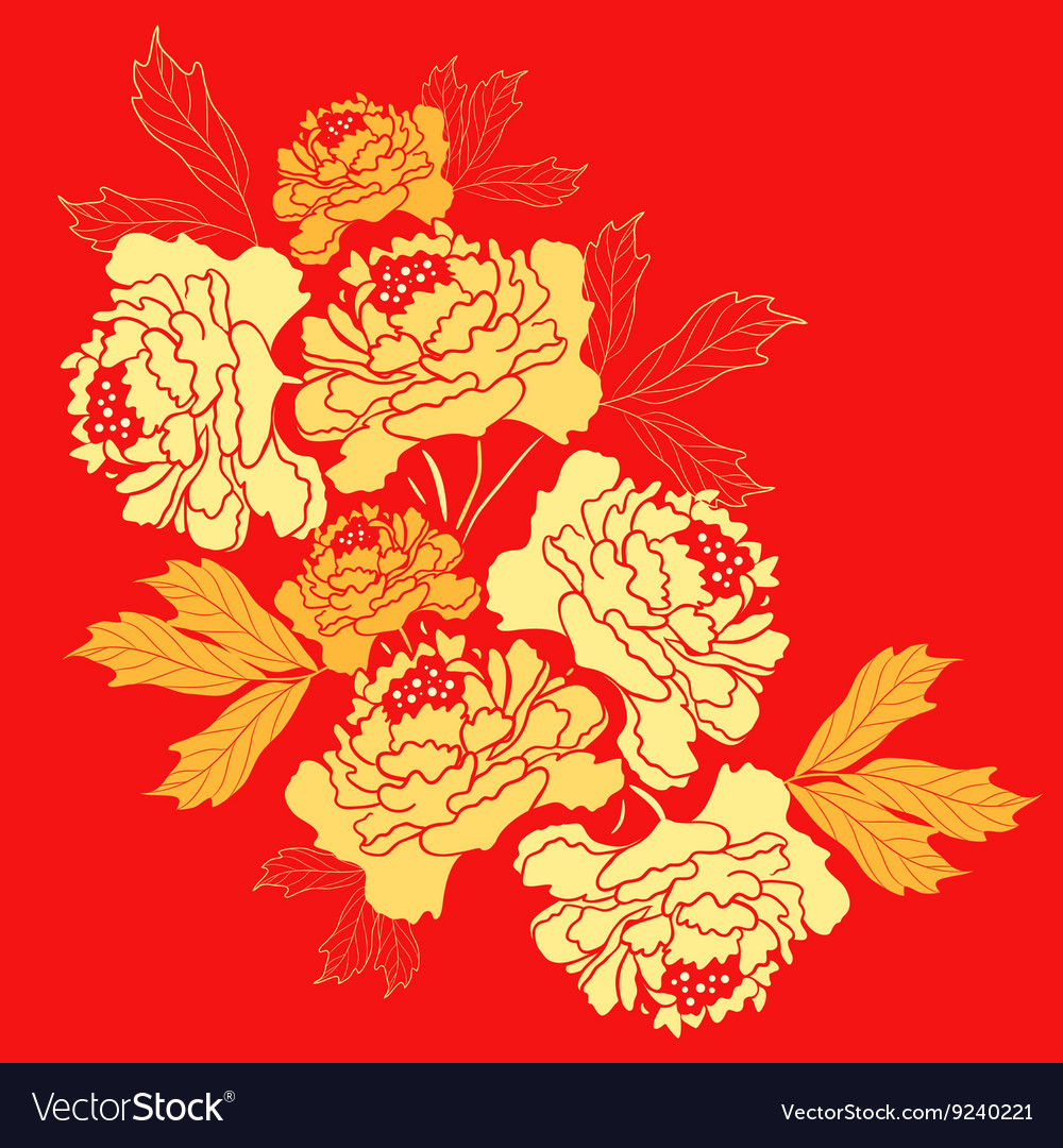 Golden Peony Flower