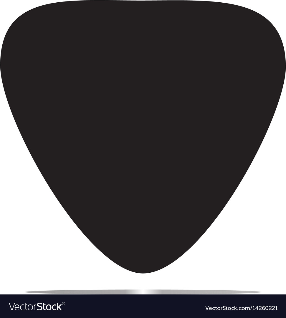 guitar pick icon royalty free vector image vectorstock rh vectorstock com guitar pick vector art guitar pick vector template