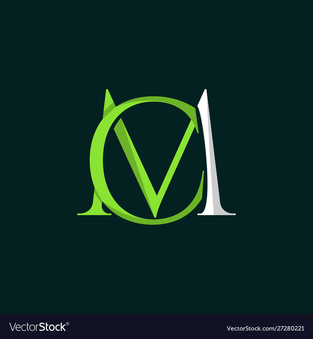 Letter cm luxury creative logo design